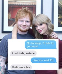 Taylor Swift Just Shared Her Extremely Sweet Texts With Ed Sheeran
