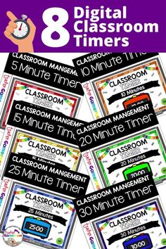 Keep track of activities with this classroom timer growing bundle. This timer is simple to use. Navigate using the buttons including a reset button .Times include 5, 10, 15, 2, 25, 30, 45 and 60 minutes. The New School, New School Year, Going Back To School, School Resources, Teacher Resources, Teaching Ideas, Elementary Teacher, Teacher Pay Teachers