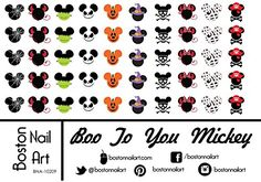 Mickeys Boo To You Halloween  Waterslide Nail Decals  50pc *** For more information, visit image link.