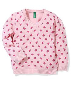 UCB Full Sleeves Sweater Allover Star Design - Pink http://www.firstcry.com/ucb/ucb-full-sleeves-sweater-allover-star-design-pink/685869/product-detail
