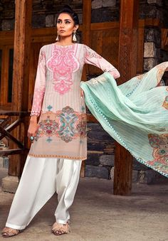 a3a0f6ff73 Maria.b – linen 3 pc – 57S Suits Online Shopping, Maria B,