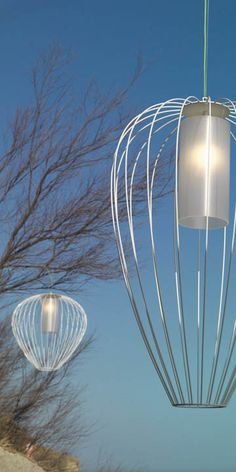 Karman designed the Cell Outdoor Suspension Lamp for garden, terrace or even indoor spaces. #lighting