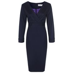 images of corporate dress for women   ... Navy Blue Business Dress by Nooshin – Office Clothing For Women