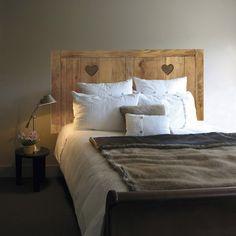 Sticker Tête de lit adhésive Chalet 60 cm x 160 cm PLAGE Sweet Home, Bed, Furniture, Leroy Merlin, Coin, Home Decor, Products, Shape, Wood Head Boards