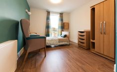 Crave ID. Fairways Dementia Care Home. Bedroom