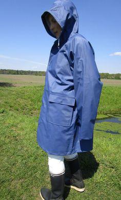 Friesennerz ProX Elements Regenmantel Lackmantel Gummimantel PVC Raincoat Blau L in Kleidung & Accessoires, Damenmode, Jacken & Mäntel | eBay