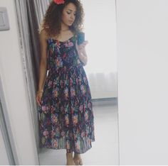 dress, nakd,curly girl, girl, woman, cute, beautiful, curly hair, curls, wavy hair, style, stripes