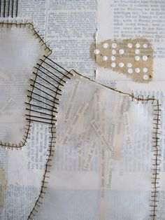to live poetry: poetic therapy by Anca Gray Mixed Media Painting, Mixed Media Collage, Mixed Media Canvas, Collage Art, Mise En Page Lookbook, Art Brut, Fabric Manipulation, Textile Artists, Art Sketchbook