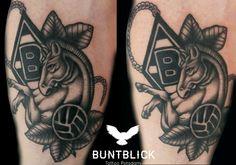 Fußball-Tattoo (Wappen) by Björn - http://www.buntblick-tattoo.de/