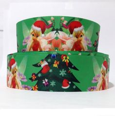 1.5' Christmas Tinkerbell Craft Printed Grosgrain Ribbon 3 Yards, Mixed -- Want to know more, click on the image.