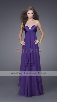 V Ausschnitt A Line Chiffon Abendkleider PLF1305596