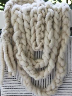 bulky yarn braided scarf