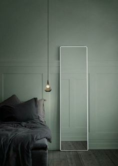 Mur kaki chambre à coucher