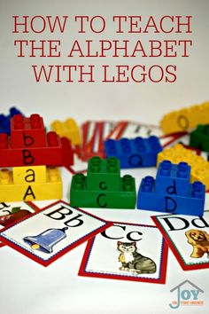 How to Teach the Alphabet with Legos | www.joyinthehome.com