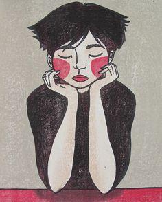 """Original Japanese woodblock print """"Shadows""""."""