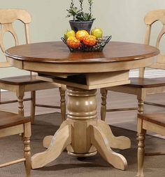 Sidney Dining Room Set Green Country French Round Table And 4 Chairs ...