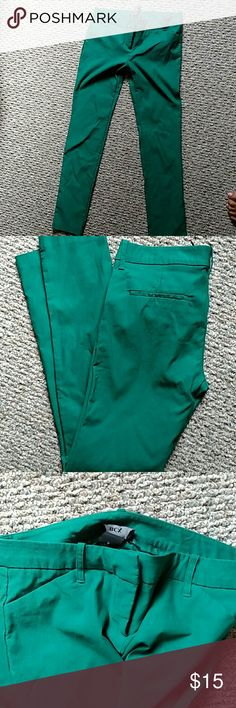 Bcx stretch dress pants Teal dress pants with stretch cropped BCX Pants Ankle & Cropped