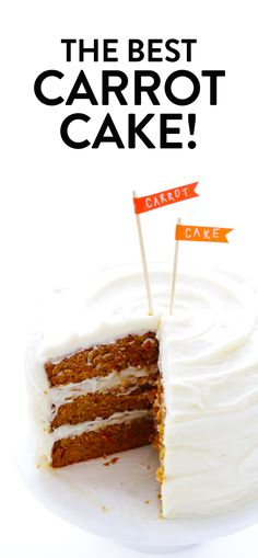 The BEST Carrot Cake Recipe It s made with an easy homemade carrot cake no mixer required and the most heavenly cream cheese frosting carrot cake dessert easter creamcheese frosting spring vegetarian Classic Carrot Cake Recipe, Homemade Carrot Cake, Best Carrot Cake, Homemade Frosting, Carrot Cakes, Carrot Cake Icing, Homemade Breads, Carrot Recipes, Cake Recipes