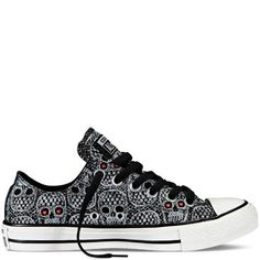 Chuck Taylor Skulls - Converse from Converse. Saved to Can You Wear It?. #lowtop #skulls #converse.