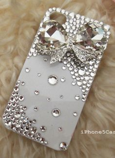 Bow and bling iphone case