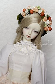 Rose Cream  OOAK handmade dress set for bjd dollfie sd sd13 clothing clothes doll size romatic casual style