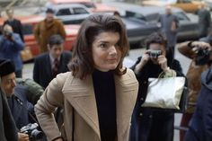 Jacqueline entering a courthouse to press her case against a relentless paparazzo, circa 1972.