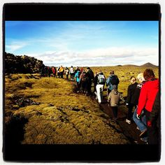 #Easter walk through the lava fields around the Blue Lagoon #Iceland