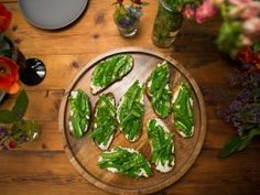 Grilled Ciabatta with Ricotta and Snap Peas from CookingChannelTV.com