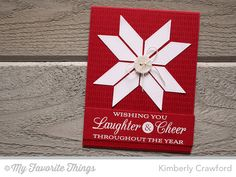 handmade quilt card from For the Love of Paper ... red and white ... pieces cut with the quilt block die ... luv it! ... My Favorite Thngs ...