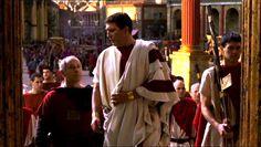 Ciaran as Caesar (looking brilliant in the toga praetexta)