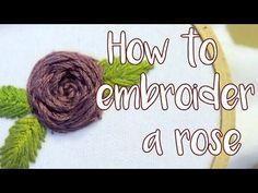 Hand Embroidery | Flower Designs for Dresses | HandiWorks #56 - YouTube