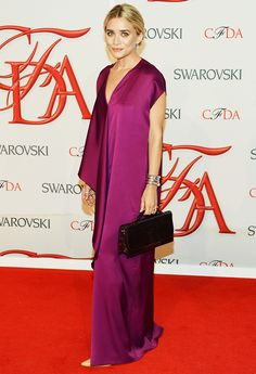 Ashley Olsen in a plunging neckline The Row gown