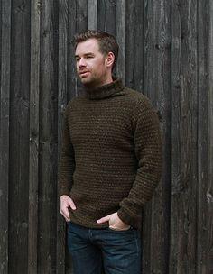 Timberjack Sweater - men's raglan sweater - Pickles - free knit pattern