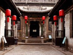 Qiao Zhiyong House near Taiyuan in Shanxi Province. Traditional entry architecture