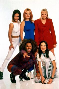 The Spice Girls at a photo shoot in Germany, October 1996