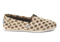 Metallic Dot Brown Women's Classics #toms