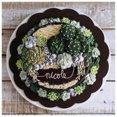 Terrarium buttercream cake