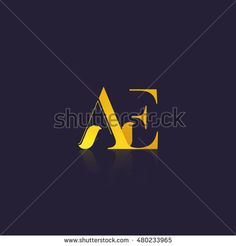 Letter AE that can be used as initial logo