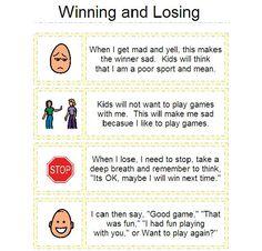Helping Kids understand Winning and Losing Coping Skills, Social Skills, Life Skills, Learning Skills, Classroom Behavior, Autism Classroom, Speech Language Therapy, Speech And Language, Social Stories Autism