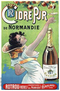 Pure Cider of Normandy   http://www.vintagevenus.com.au/collections/drinks/products/vintage_poster_print-d389