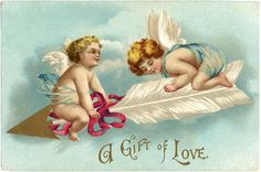 Free Vintage Valentine Picture - Graphics Fairy