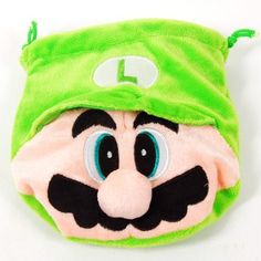 """Super Mario Drawstring Bag Coin Purse Plush Green by Super Mario. $11.80. Length x Width x Depth: 6.5"""" x 6"""" x 0.4""""  (16.5 x  15.3 x  1 cm). Color: Green. ·Small drawstring bag in the shape of Super Mario, very cute   ·Made of high quality plush, very soft and durable   ·Perfect for holding your coins, candies, cards, etc   ·Mini size, easy to carry in your handbag/clutch bag/satchel bag and will not occupy too many space   ·Very practical, ideal item for Super Mario fans"""