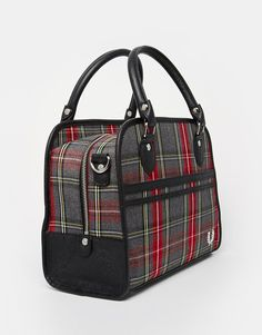 Image 2 of Fred Perry Signiture Plaid  Bowilng Bag