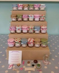 Vintage Little pot of happiness mini jam jar wedding favour novelty gift present