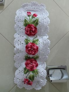rose, crochet, can be a nice d - Salvabrani Filet Crochet, Crochet Motif, Crochet Doilies, Crochet Flowers, Crochet Patterns, Crochet Towel, Crochet Baby, Knit Crochet, Crochet Kitchen
