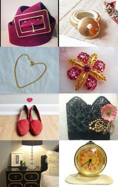 A little gold Treasury by Odette - L♥v the name!  Reminds me of Golden Books for children !