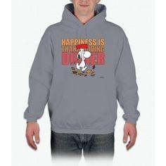 Peanuts Happiness Thanksgiving Dinner Snoopy Hooded Sweatshirt