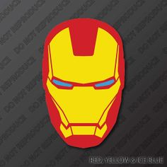 236px for Iron man face mask template