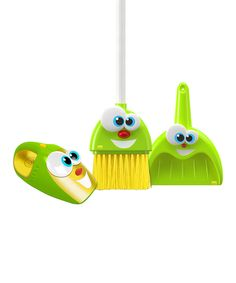 Look what I found on #zulily! Silly Sam, Pan and Larry Housekeeping Toy Set by Kidz Delight #zulilyfinds