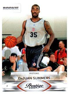 2009 Prestige DaJuan Summers Rookie Card Detroit Pistons